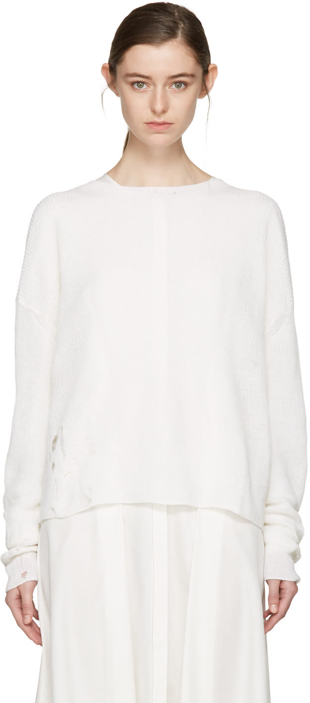 Acne Studios Off-white Aisha Knit Pullover