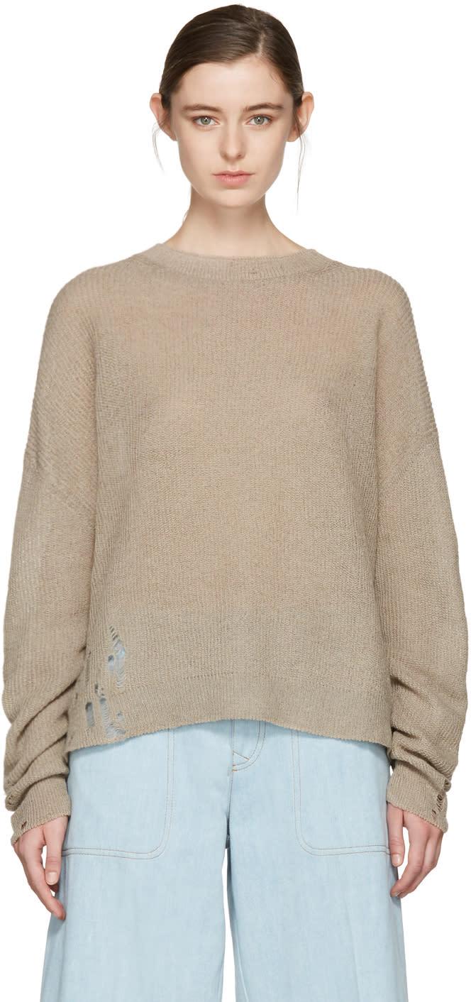 Acne Studios Beige Aisha Knit Pullover