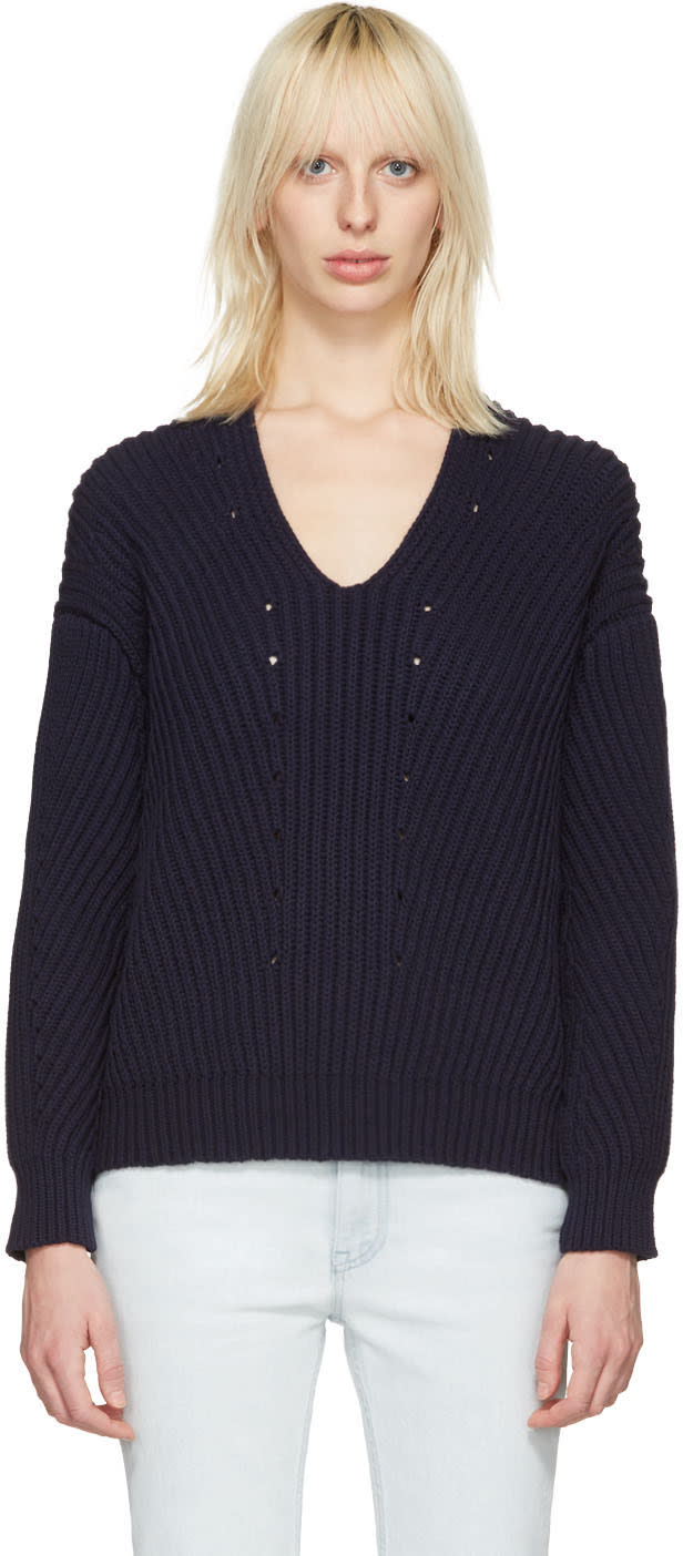 Acne Studios Navy Bernice Sweater