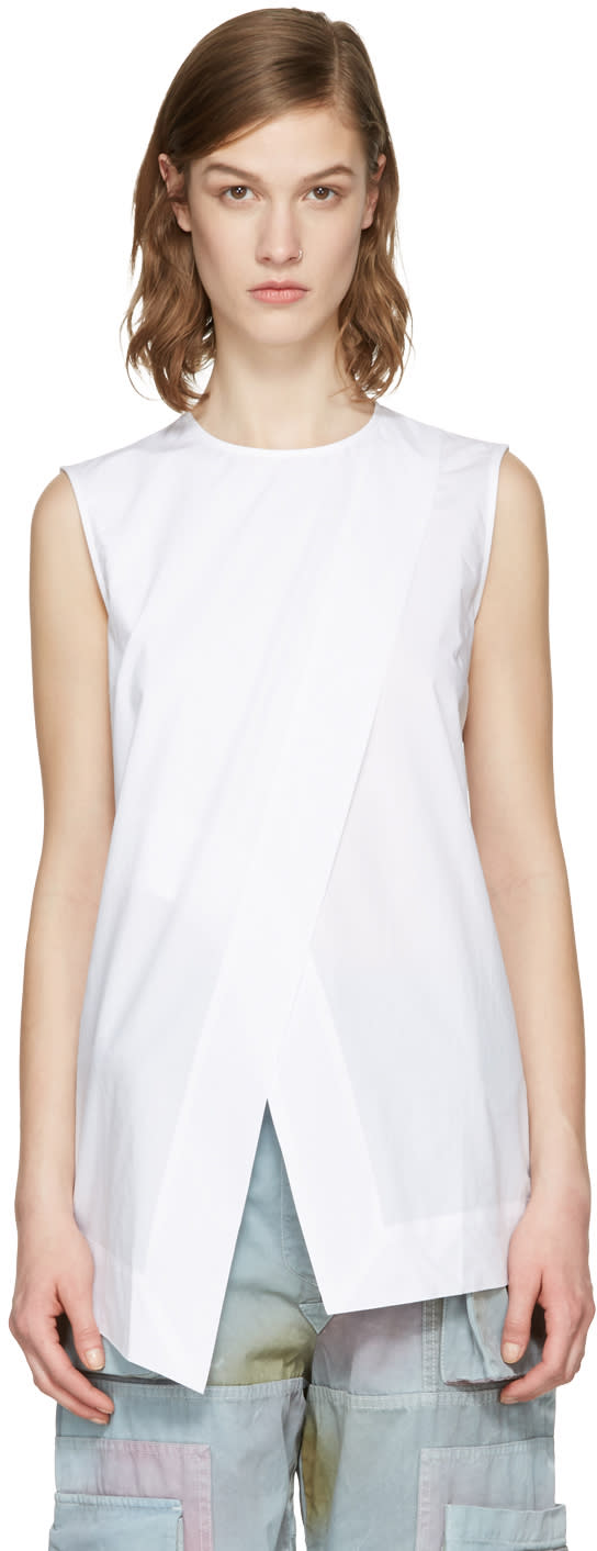 Acne Studios White Berle Top