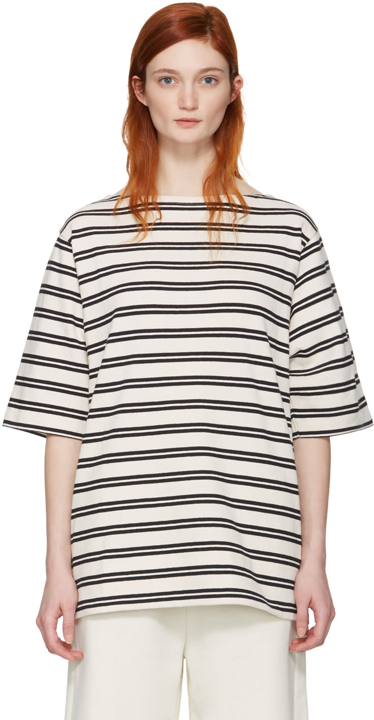 Acne Studios Ecru Striped Dani T-shirt