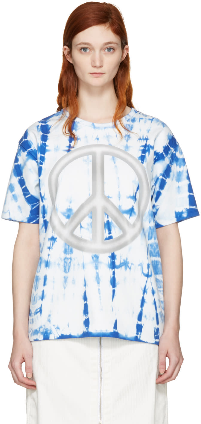 Acne Studios Blue Tie-dye Peace T-shirt