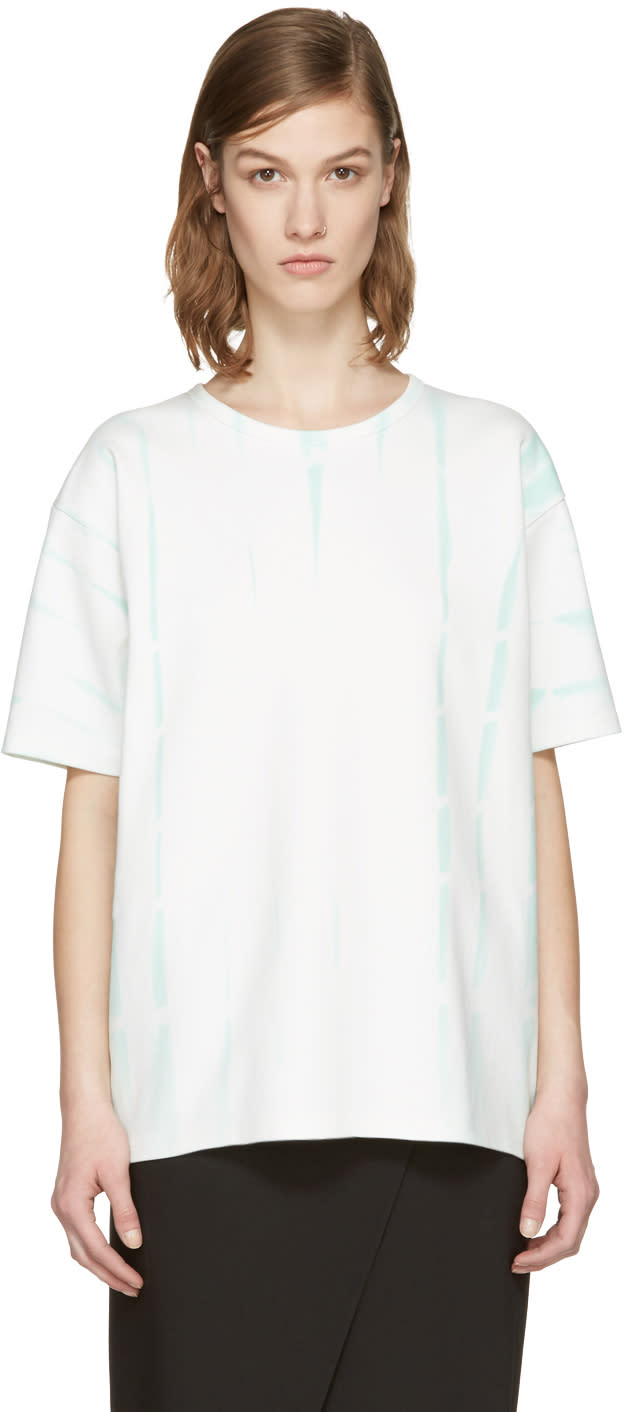 Acne Studios Green Tie-dye Peace T-shirt