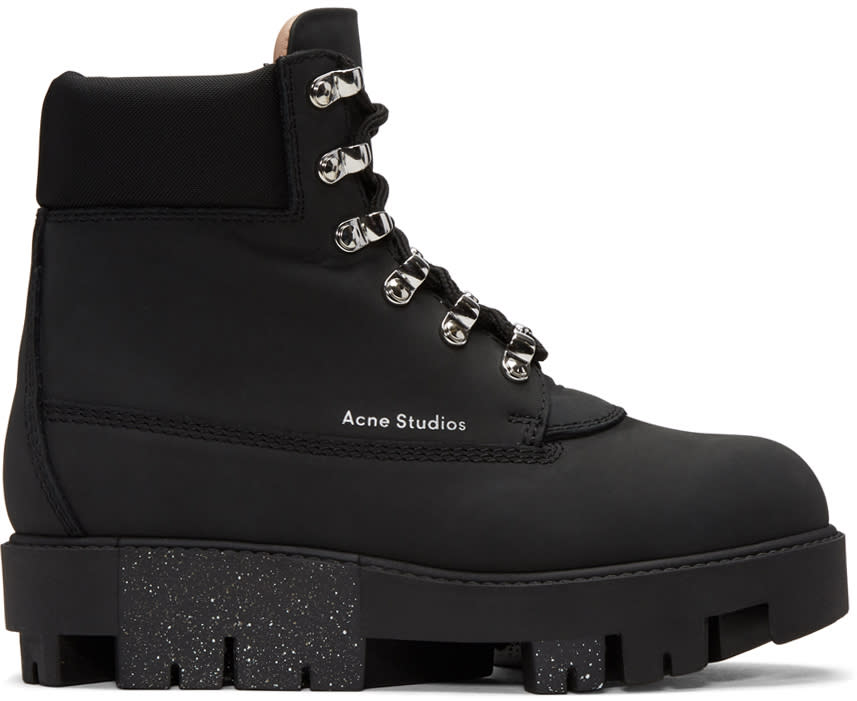 Acne Studios Black Telde Hiking Boots
