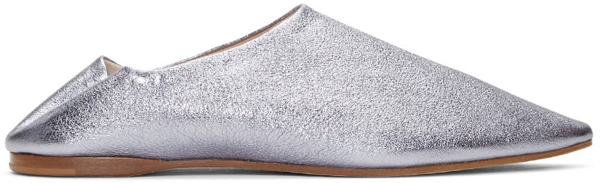 Acne Studios Purple Amina Space Flats