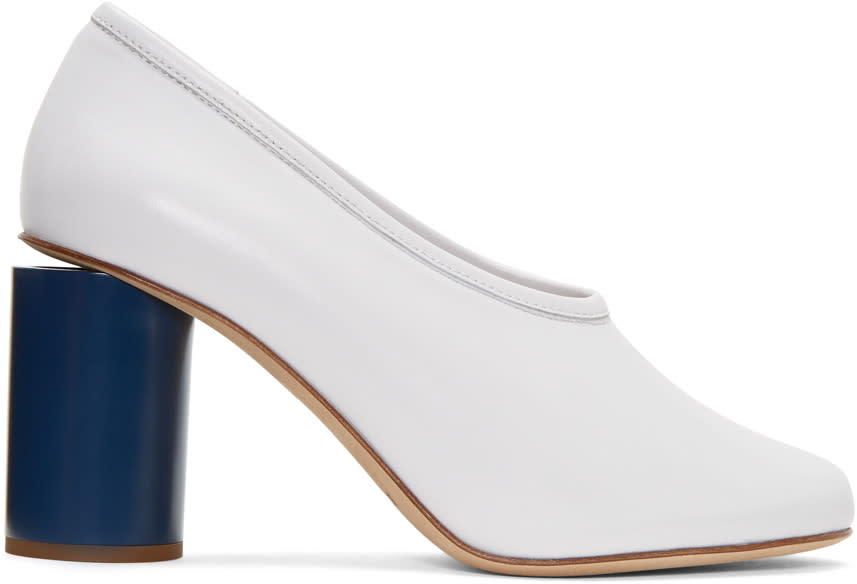 Acne Studios White Amy Heels