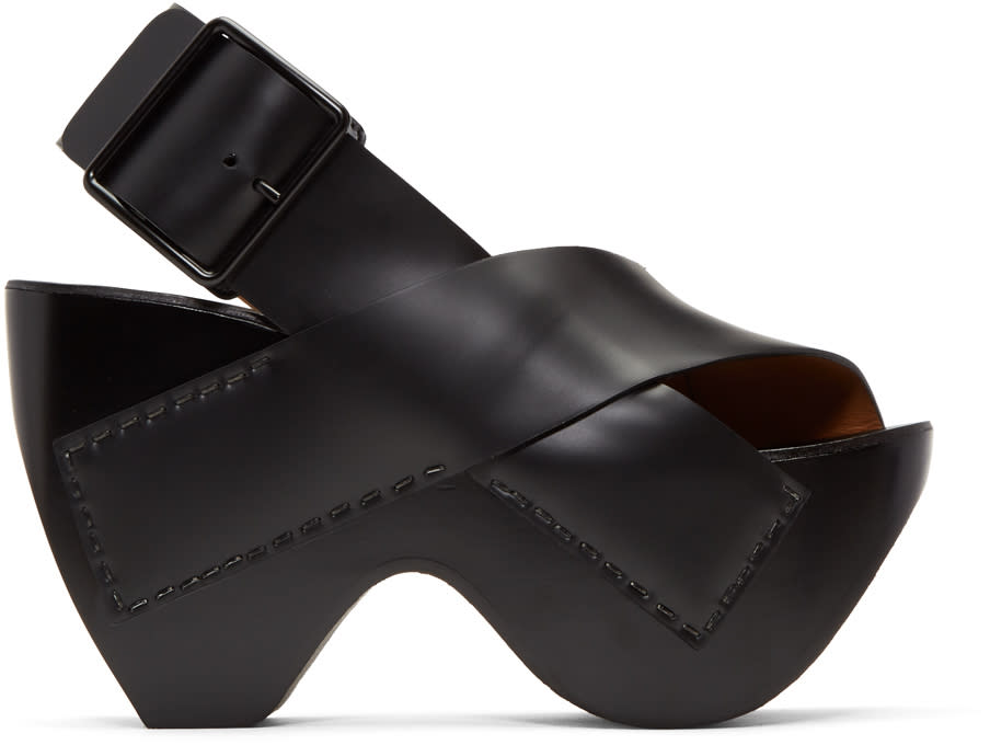 Acne Studios Black Carley Sandals