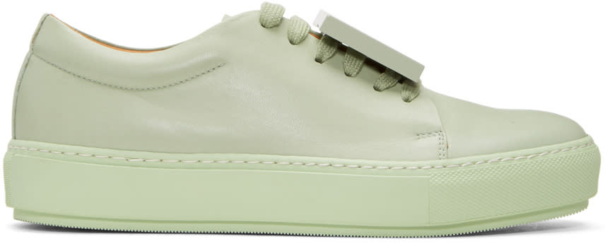 Acne Studios Green Adriana Turnup Sneakers
