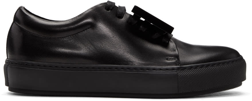 Acne Studios Black Adriana Turnup Sneakers