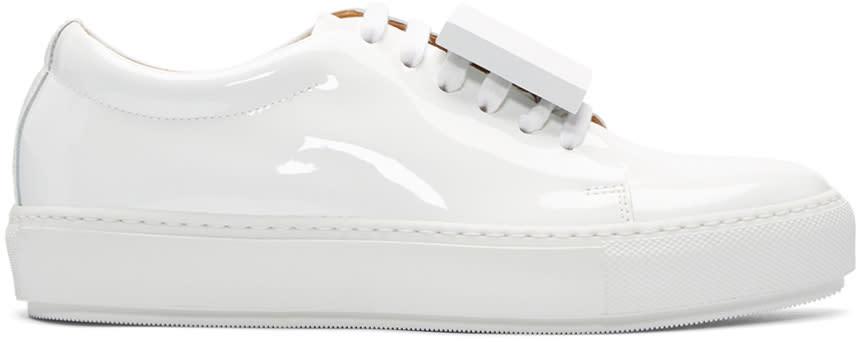 Acne Studios White Patent Adriana Sneakers