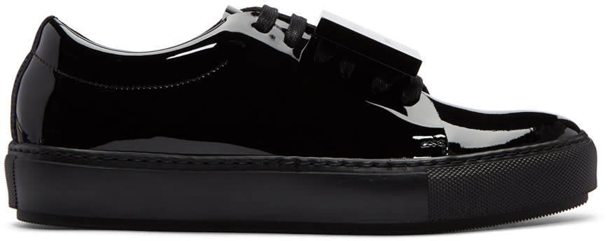 Acne Studios Black Patent Adriana Sneakers