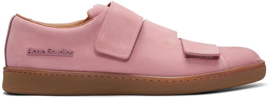 Acne Studios Pink Nubuck Triple Sneakers