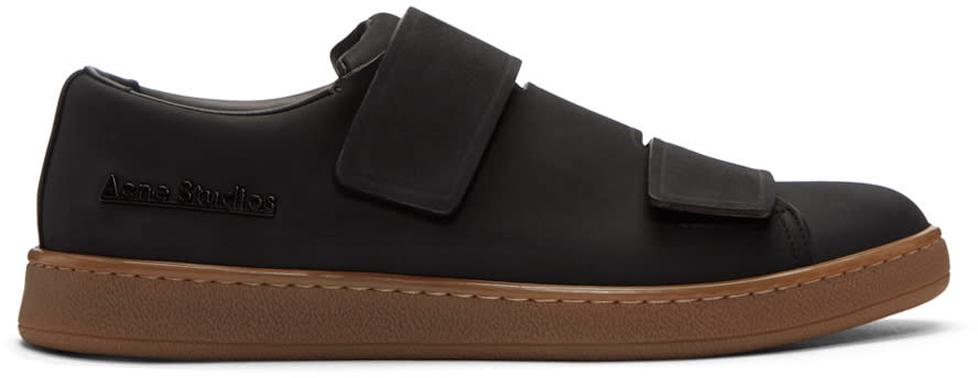 Acne Studios Black Nubuck Triple Sneakers