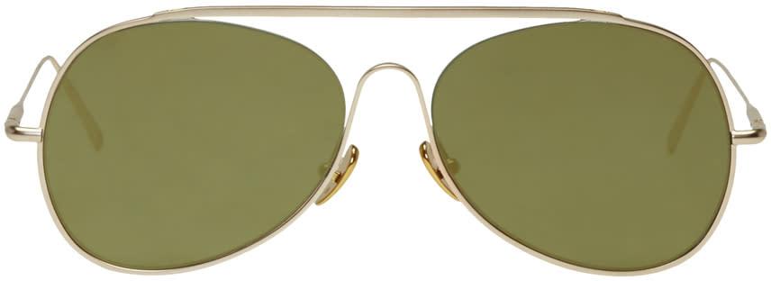 Acne Studios Gold Spitfire L Sat Sunglasses