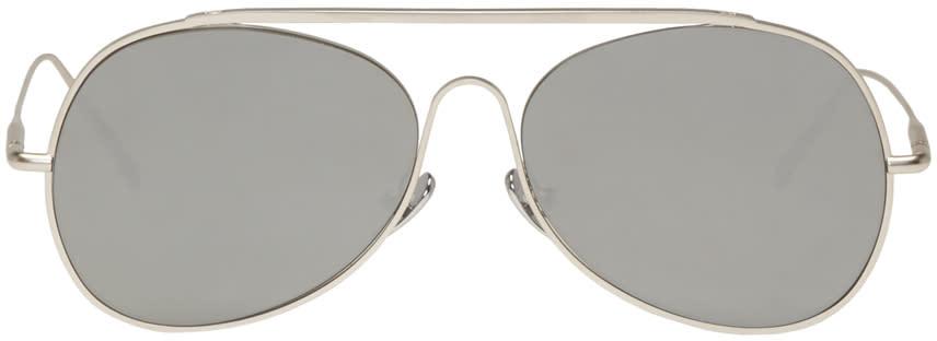 Acne Studios Silver Spitfire L Sat Sunglasses