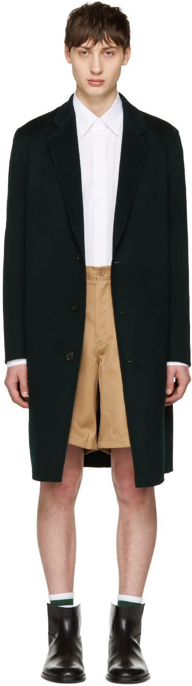 Acne Studios Green Charles Coat