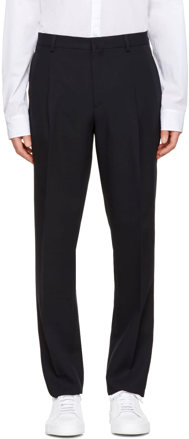 Acne Studios Navy Boston Fl Tec Trousers