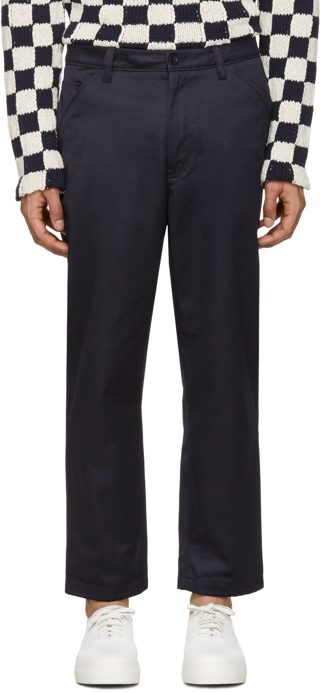 Acne Studios Navy Allan Trousers