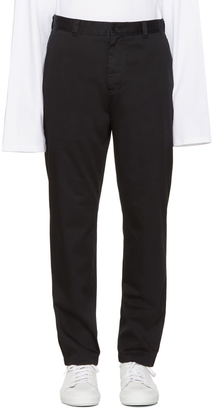 Acne Studios Black Alfred Trousers