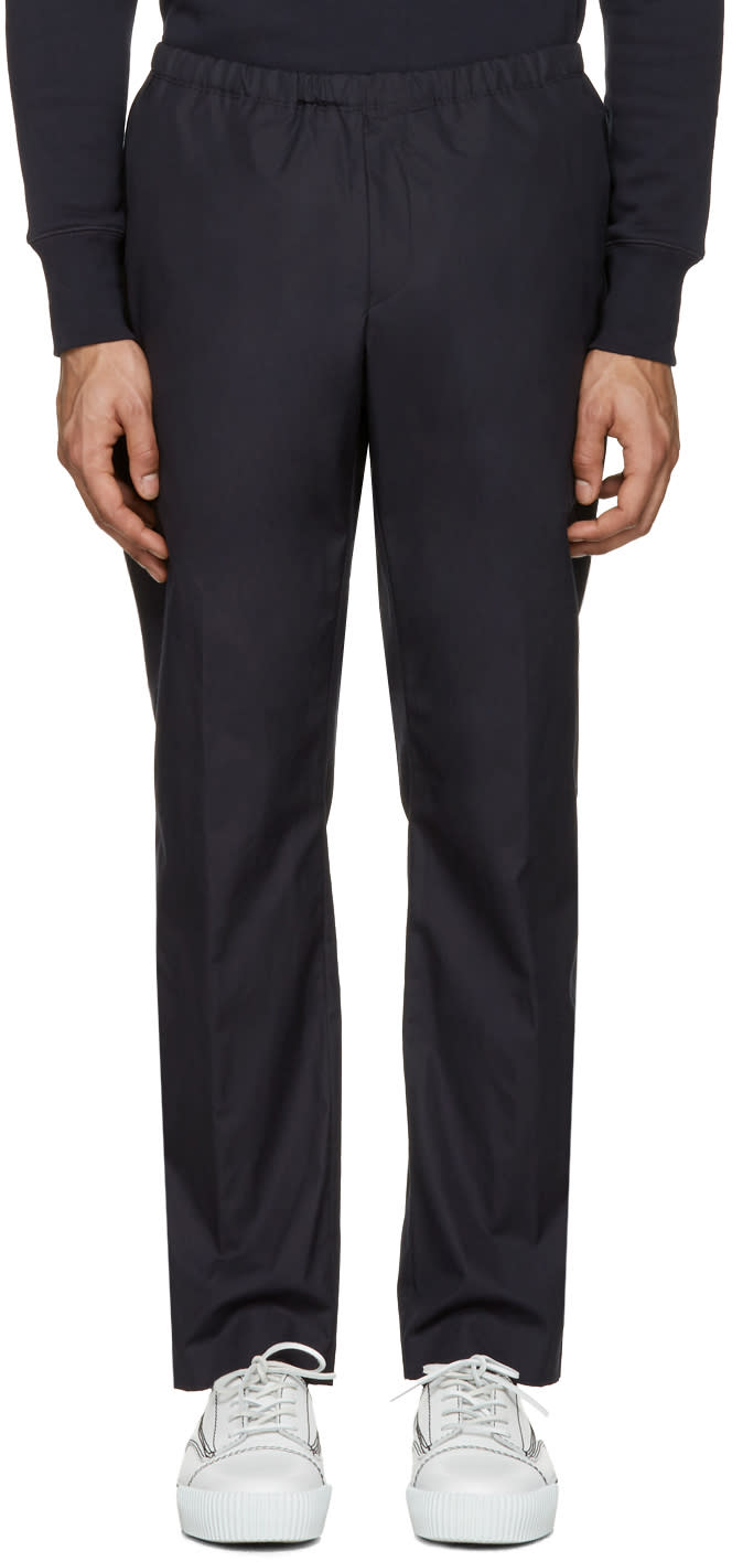 Acne Studios Navy Ari Pop Trousers