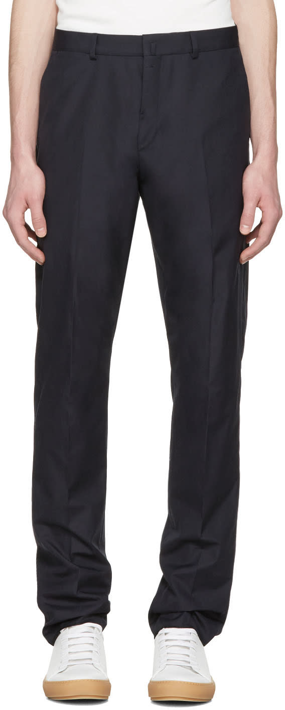 Acne Studios Navy Brobyn Pop Trousers
