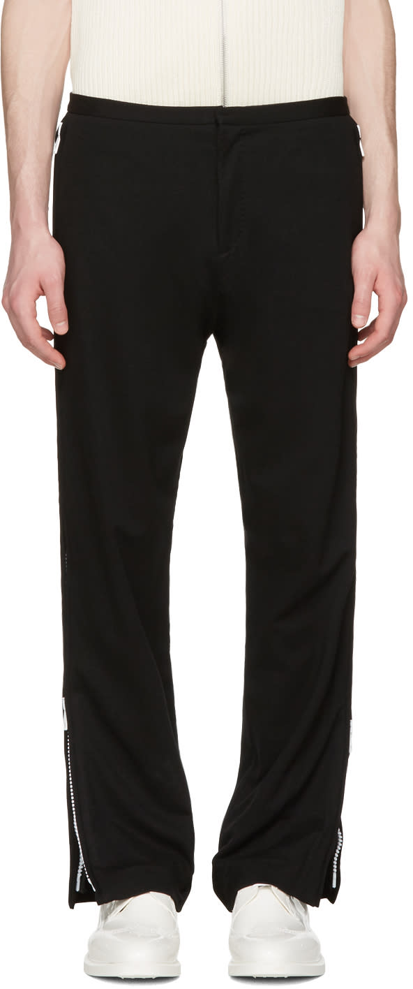 Acne Studios Black Bomere Zip Trousers