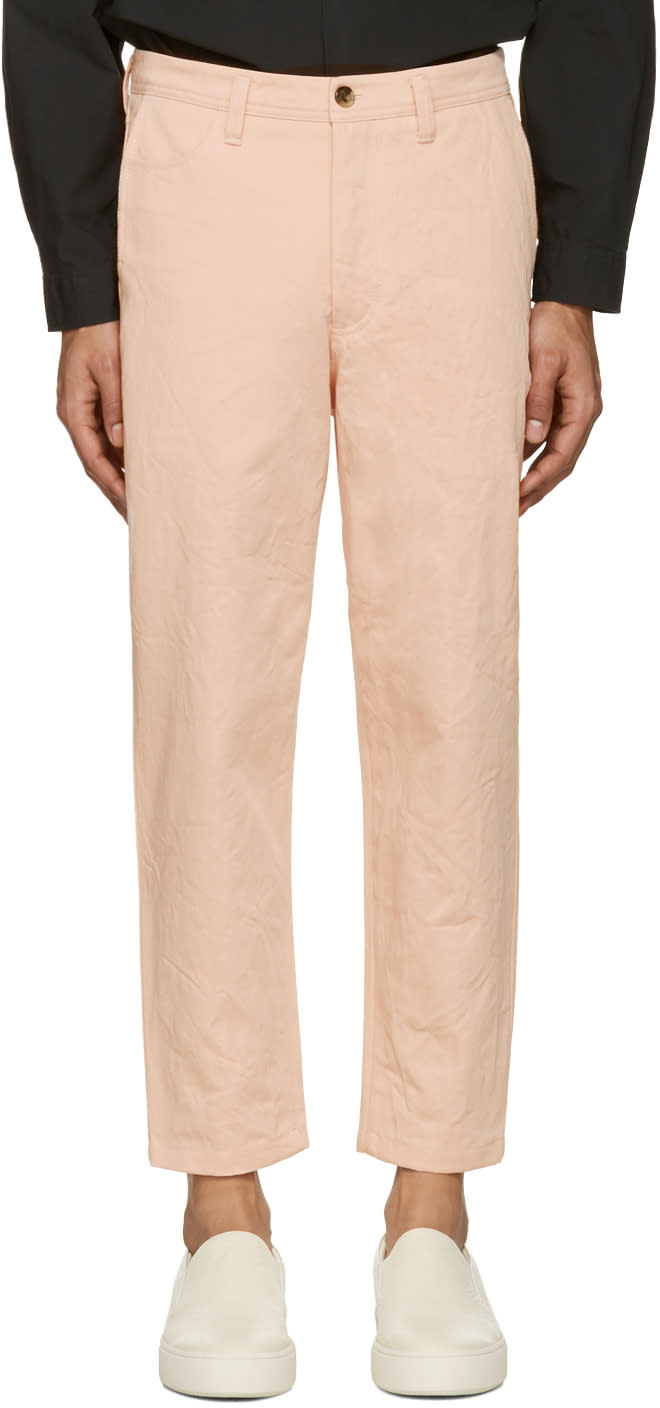 Acne Studios Pink Angus Salt Trousers