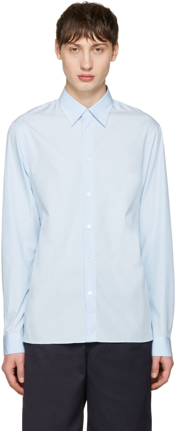 Acne Studios Blue Glasgow Pop Shirt