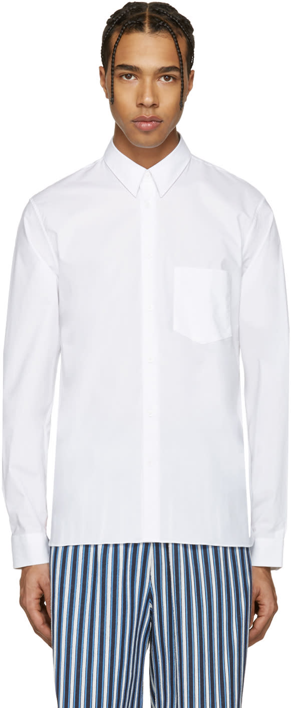 Acne Studios White York Stretch Shirt