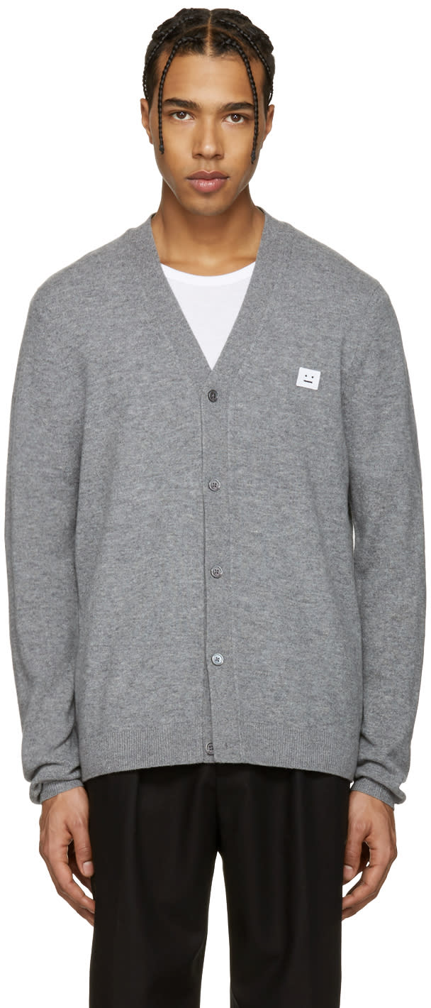 Acne Studios Grey Dasher C Face Cardigan