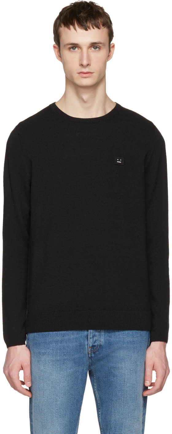 Acne Studios Black Dasher O Face Sweater