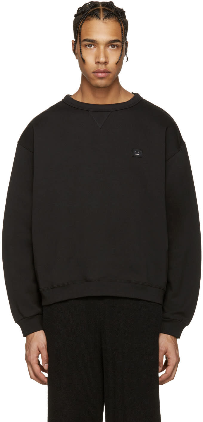 Acne Studios Black Fint Face Sweatshirt