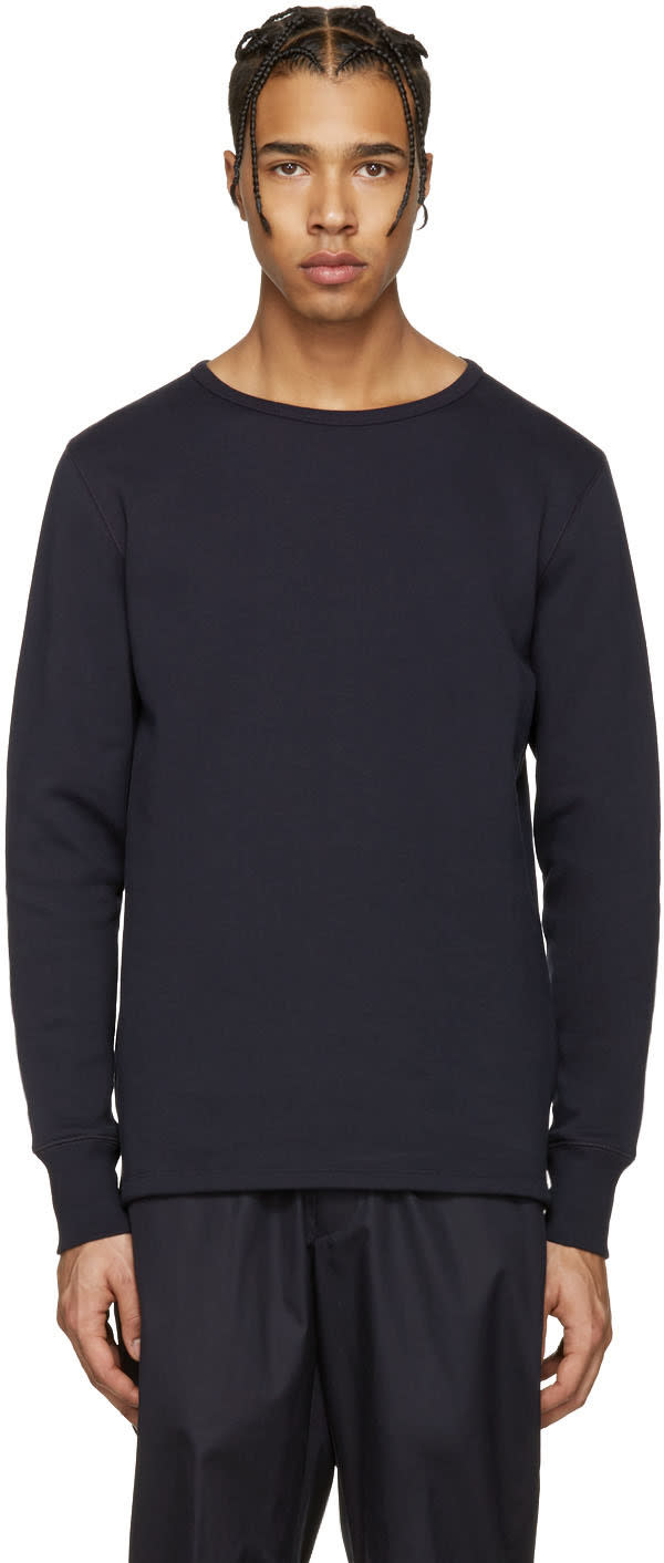 Acne Studios Navy Finish Sweatshirt