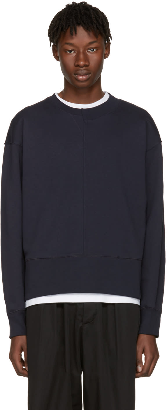 Acne Studios Navy File Sweatshirt