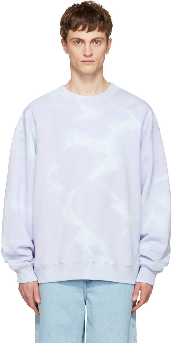 Acne Studios Purple Yana Bleach Sweatshirt