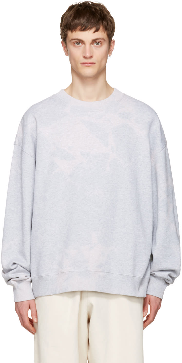 Acne Studios Grey Yana Bleach Sweatshirt