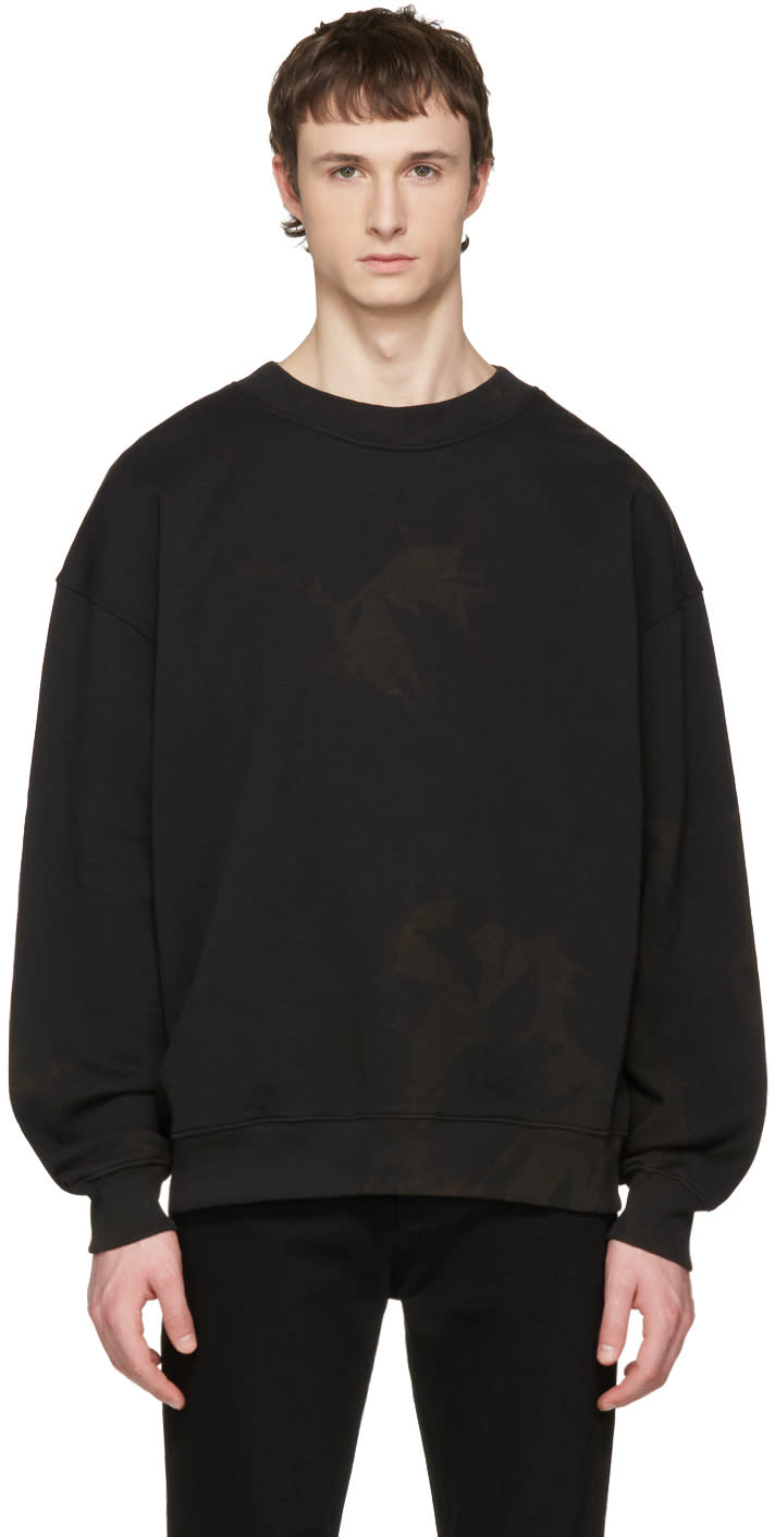 Acne Studios Black Yana Bleacher Sweatshirt