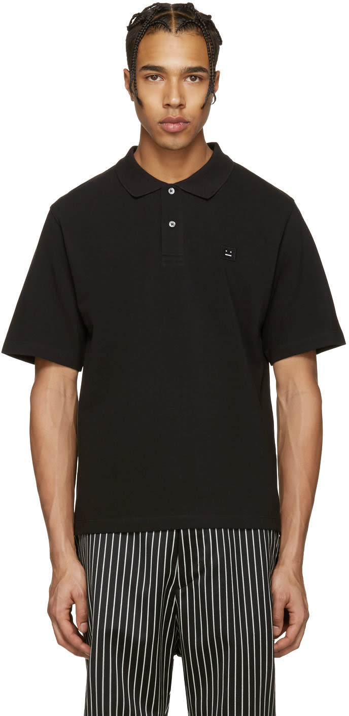 Acne Studios Black Falco Face Polo