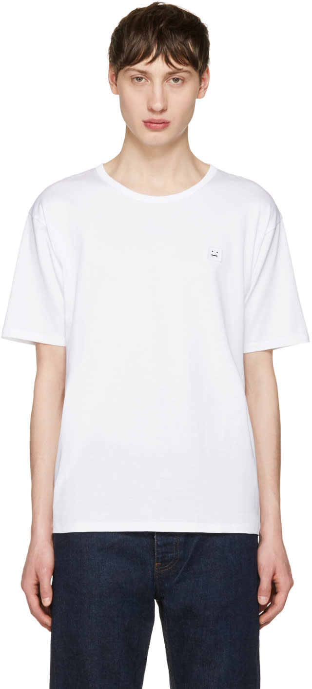 Acne Studios White Niagara Face T-shirt