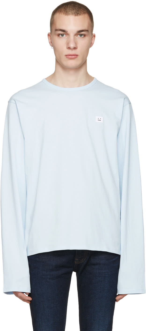 Acne Studios Blue Fello Face T-shirt