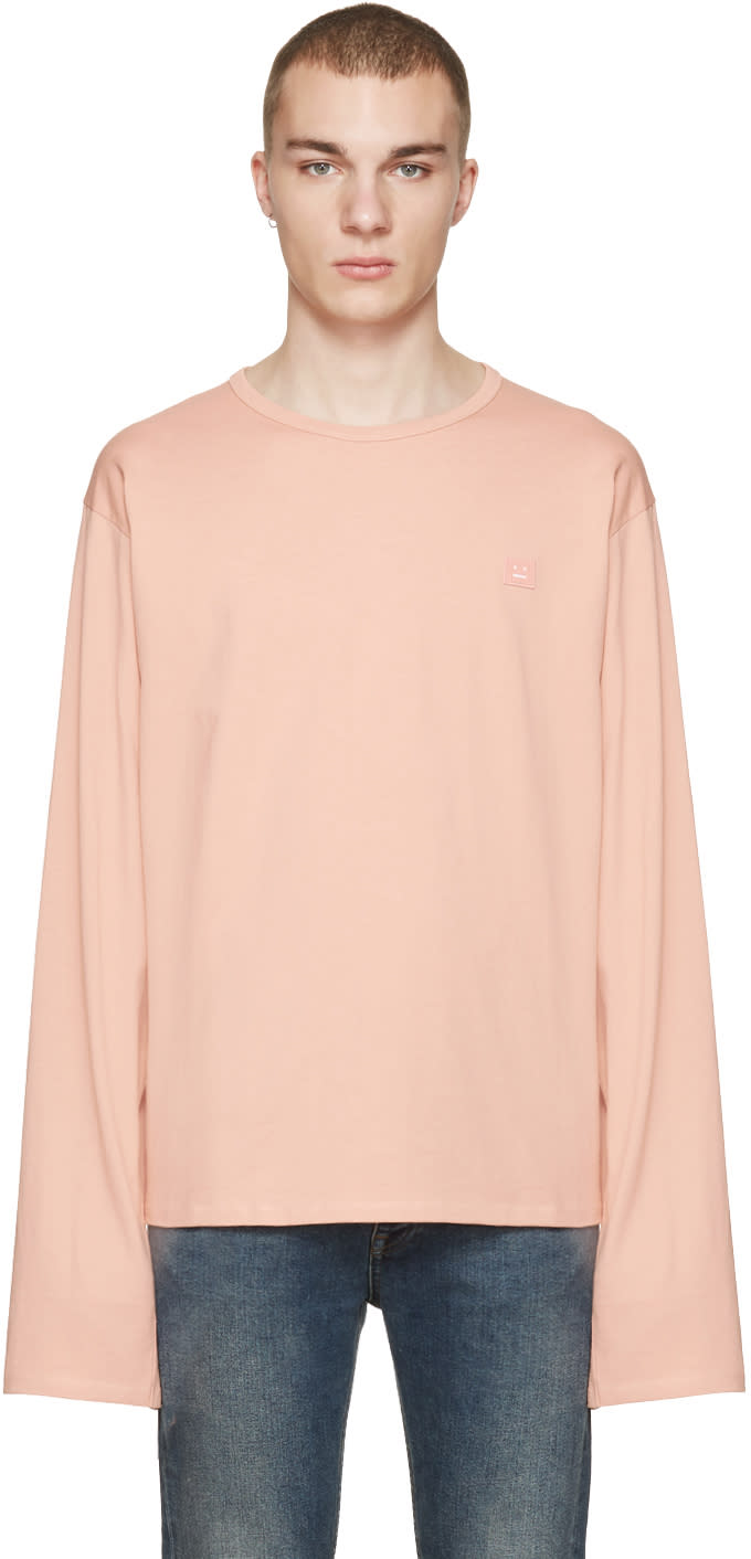 Acne Studios Pink Fello Face T-shirt