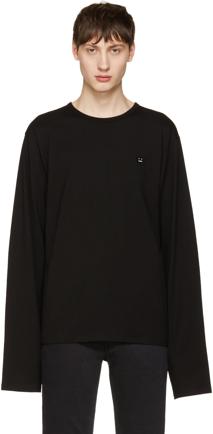 Acne Studios Black Fello Face T-shirt