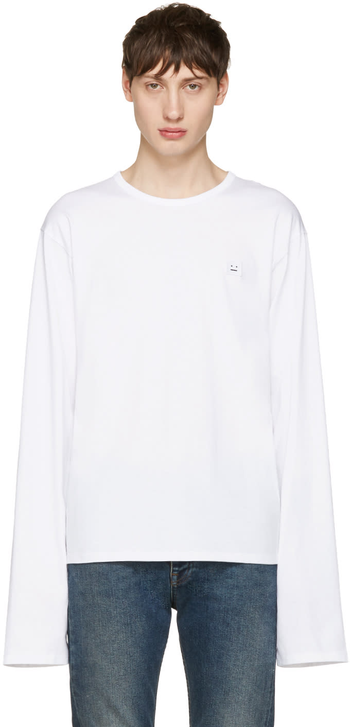 Acne Studios White Fello Face T-shirt