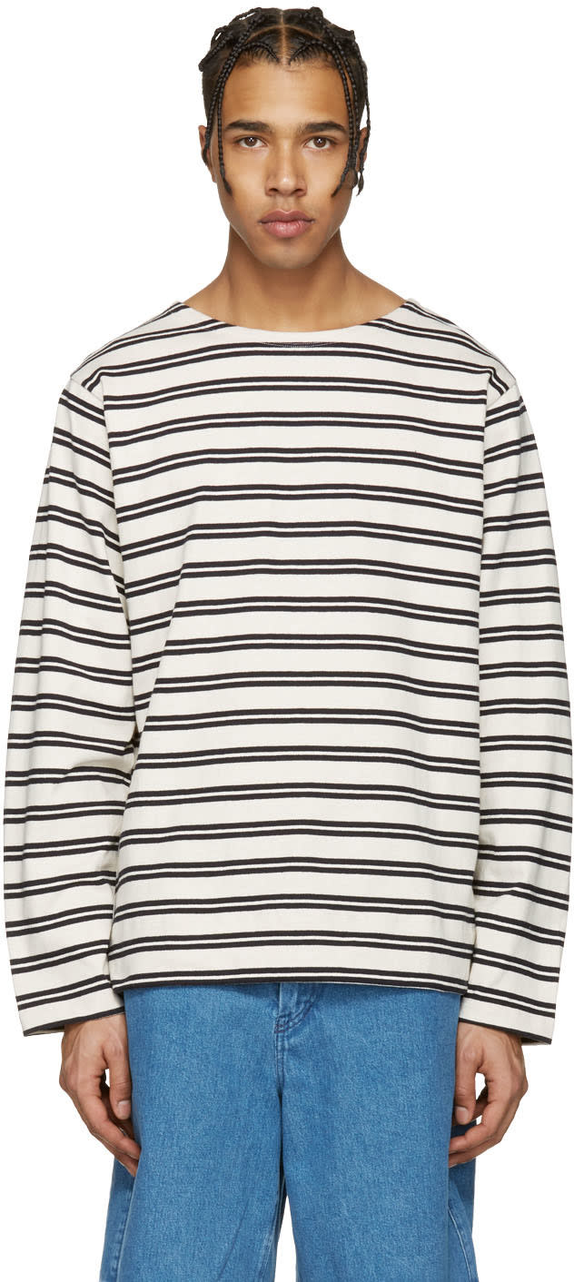 Acne Studios Ecru Striped Nimes T-shirt