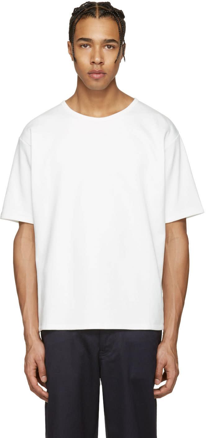 Acne Studios ホワイト ナイアガラ T シャツ