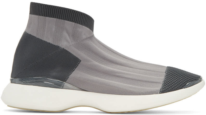 Acne Studios Grey Tristan Low Sneakers