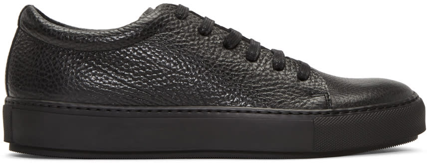Acne Studios Black Adrian Grain Sneakers