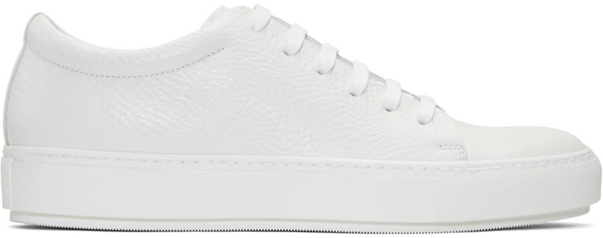Acne Studios White Adrian Grain Sneakers