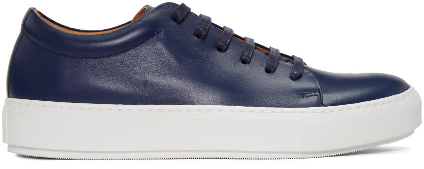 Acne Studios Navy Adrian Turnup Sneakers