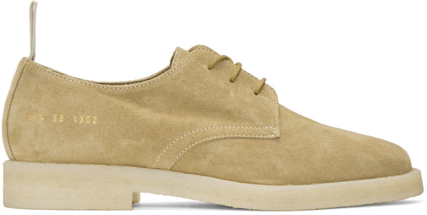 Common Projects Tan Suede Cadet Derbys